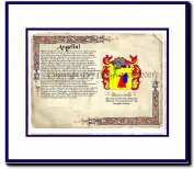 Angelini Coat of Arms/ Family History Wood Framed