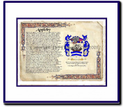 Appleby Coat of Arms/ Family History Wood Framed