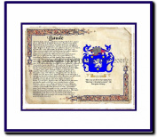 Baude Coat of Arms/ Family History Wood Framed