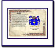 Belik Coat of Arms/ Family History Wood Framed