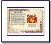 Boscherini Coat of Arms/ Family History Wood Framed