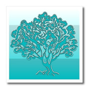 Lee Hiller Designs Embossed Plaster Prints - Turquoise Tree Of Life - Iron on Heat Transfers