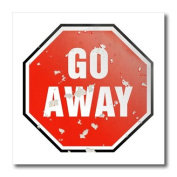 Houk Digital Design Symbols - Go Away Red Sign on white background - Iron on Heat Transfers