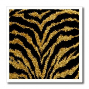 Lee Hiller Designs RAB Rockabilly - RAB Rockabilly Metallic Gold and Black Zebra Print - Iron on Heat Transfers