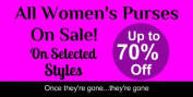 3'x2' Womens Handbags on Selected Styles for Women Advertising Banner