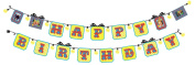 BUTCH & harold Party Decorating Sticker Banner, Happy Birthday