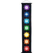 The New Age Source Cotton Colour Print Banner Chakras Black Each