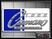 Camaro 1968 Sign Banner Chevrolet
