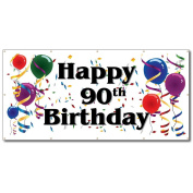 Happy 90th Birthday - 4' x 8' Vinyl Banner