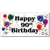 Happy 90th Birthday - 4' x 8' Vinyl Banner