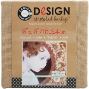 Canvas Corp 15cm by 15cm Jute Stretched Natural Burlap
