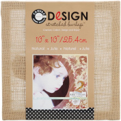 Canvas Corp 25cm by 25cm Jute Stretched Natural Burlap