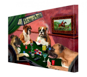 House of Boxers Dogs Playing Poker Canvas 16 x 20