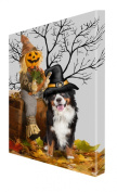 Bernese Mountain Dog Halloween Canvas 16 x 20