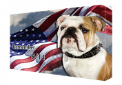 Bulldog Canvas 16 x 20 Patriotic