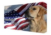 Golden Retriever Dog Canvas 16 x 20 Patriotic