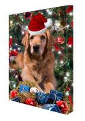 Golden Retriever Dog Christmas Canvas 16 x 20