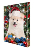Pomeranian Dog Christmas Canvas 16 x 20