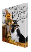 Sheltie Dog Halloween Canvas 16 x 20