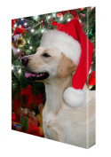 Yellow Labrador Retriever Dog Christmas Canvas 16 x 20