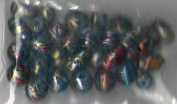 35pc Metallic Swirl Mix Teal Beads - Fashion Glass by Cousin - #52811-03