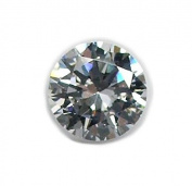 White Round CZ Facet Loose Unset Gemstone Cubic Zirconia Brilliant Cut 10mm