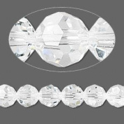 . Crystal 5000 8mm Clear Faceted Round Beads - 12 Pack