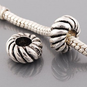 "Antique Silver ""Spiral"" Compatible with Pandora, Chamilia, Troll, Biagi and Other Italian Jewellery"