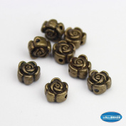 Jewellery Making Antique Brass Bronze Vintage Style Round Bead Spacer Rose