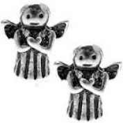 Antique Silver Angel Bead Charm Spacer Compatible with Pandora, Biagi, Troll, Chamilia and Other Italian Jewellery