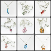 Mixed Silver Tone Necklaces & Austrian Crystal Pendants