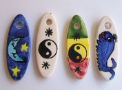 Surf Boards Beads Pendant. 3.8cm , Pkg of 4