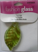 Lt. Green Gold Foil Leaf 1PK Bead - Fashion Glass by Cousin - #3484804