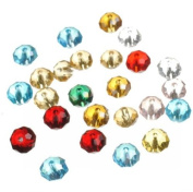 50pcs Faceted Rondelle Crystal Glass Beads Mixed Colour 6mm