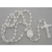 Rosarybeads 5 (five) X White Plastic Prison Issue Rosary Beads Rosaries