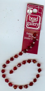 "Red Faceted Glass 6mm Bicone Beads 9"" Strand"