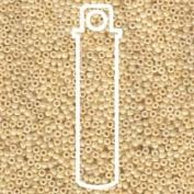 Ceylon Light Beige 15/0 Round Miyuki Seed Beads Apx 8.2g Tube