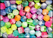 20 pcs Czech Glass NEON (UV Active) Beads, Lucerna 7x8mm Mix