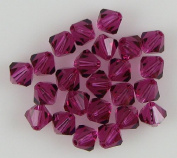 24 6mm. crystal bicone 5301 Fuchsia beads