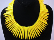 Howlite Turquoise Gradual Needle Dyed Yellow Colour Charms Spacers Loose Beads