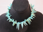 Synthetic Turquoise Blue Colour Spike 41cm Strand