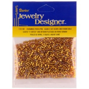 2 Cut Silver Lined Seed Beads, Gold, 20 Gramme Pkg