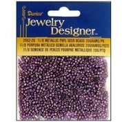 11/0 Glass Seed Beads, Metallic Purple, 20 Gramme Pkg