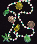 Clear Sea Shells Mardi Gras Necklace Laua Beads
