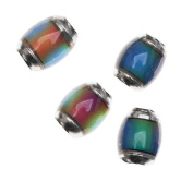 Mirage Colour Changing Mood Beads - Barrel Spacers 9x7mm