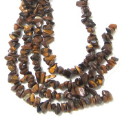 Bead Collection 40297 Semi Precious Tigereye Chips Beads, 23cm