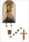 Rosarybeads4u St Saint Anthony Brown Plastic Rosary Beads Rosaries
