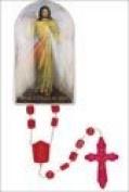 Rosarybeads4u Divine Mercy Red Plastic Rosary Beads Rosaries