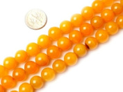 "6mm 8mm 10mm 12mm 14mm Round Yellow Agate Beads Strand 15"" Jewellery Making Beads"