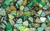 50 Green Mix Czech Glass Leaf Beads 10MM